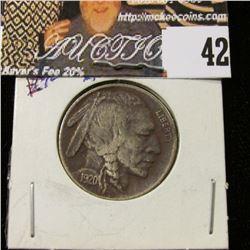 1920 P Buffalo Nickel, EF but dark toning.