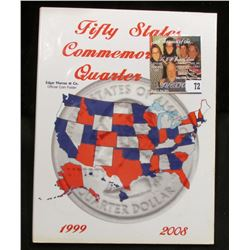"""Marcus & Co. """"Fifty States Commemoratives Quarter Set"""" Folder with the first 29 State Quarters, all"""