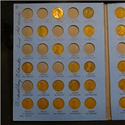 1909-40 partial Set Lincoln Cents (57) Coins in a Whitman Folder.