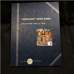 1917-45 Partial Set of Mercury Dimes in a blue Whitman folder. (37 pcs.).