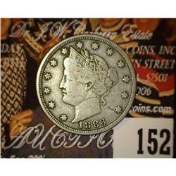 1883 No Cents Liberty Nickel, Fine.