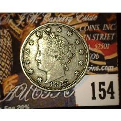 1883 No Cents Liberty Nickel, Fine-VF.