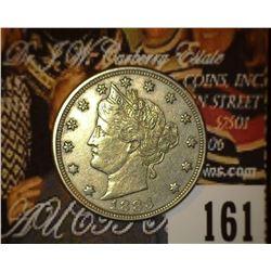 1883 No Cents Liberty Nickel, EF-AU