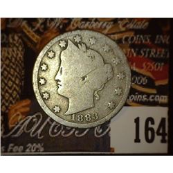 1883 With Cents Liberty Nickel. Good.