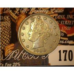 1900 U.S. Liberty Nickel, EF+.
