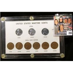 "Capital holder containing a ""United States Wartime Cents"" Set. (9 pcs.)."