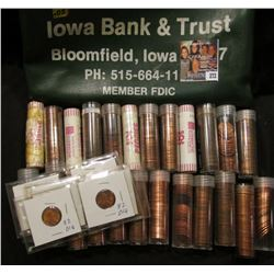 "Zippered money bag from ""Iowa Bank & Trust Bloomfield, Iowa 52537 PH: 515-664-1112 Member FDIC"" cont"