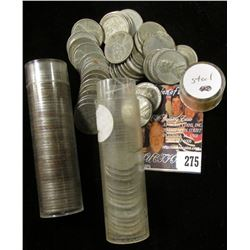 Approximately 100 U.S. 1943 Steel Cents in a pair of plastic tubes. Circulated.