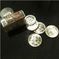 (17) 1963 D Gem BU Franklin Silver Half Dollars.