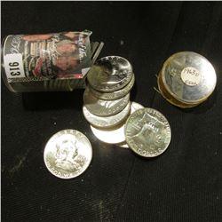 1963 D Original BU Roll of Franklin Silver Half Dollars. (20 pcs.)