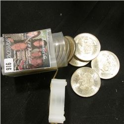 1947-48 Brilliant Uncirculated Roll of .900 Fine Silver Mexico Five Peso Coins. Each contains 30 gra