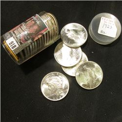 1923 P Original BU Roll of U.S. Peace Silver Dollars in a plastic tube. (20 pcs.).