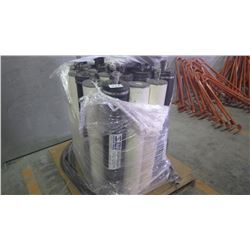 Pallet of rain drain hydro carbon filters approximately 20 with piping and fittings