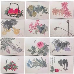 Qi Baishi 1864-1957 Chinese Watercolour on Booklet