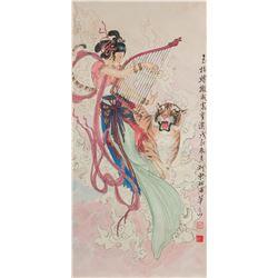 Hua Sanchuan 1930-2004 Watercolour on Paper Roll