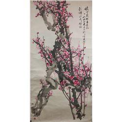 Li Jun b.1939 Chinese Watercolour on Paper Roll