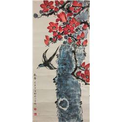 Li Shouzhen 1909-2003 Watercolour on Pape Roll