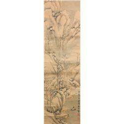 Lin Shu 1852-1924 Chinese Watercolour Paper Roll