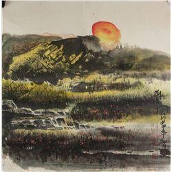 Liu Guangping b.1956 Chinese Watercolour PaperRoll