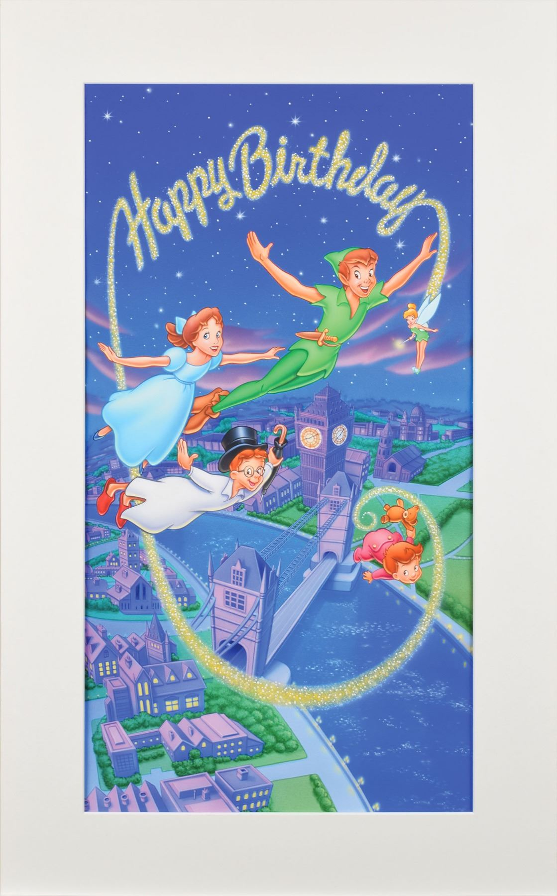 Image 1 Peter Pan Production Artwork From Pop Shots 3D Greeting Card