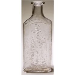 F.W. Ruhser, City Pharmacy Bottle (Jackson, California)