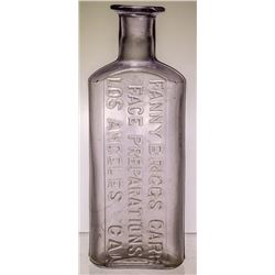 Fanny Briggs Carr, Women's Face Preparations Drug Bottle (Los Angeles, California)