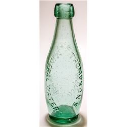Thompson's Mineral Water, Union Soda Works Bottle (San Francisco, California)