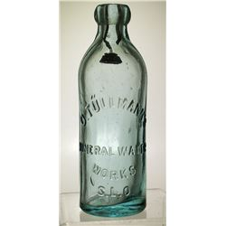 Tullmann Mineral Water Bottle (San Luis Obispo, California)