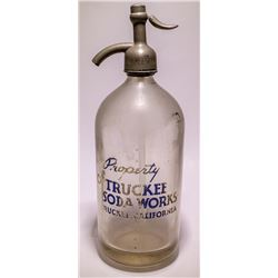 Truckee Soda Works Seltzer Bottle (Truckee, California)