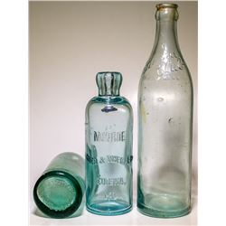 Three California Soda Bottles (Eureka and Oroville, California)