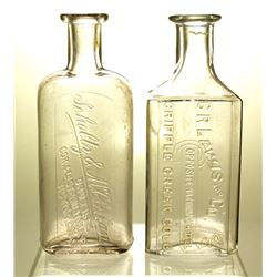 Two Colorado Drug Store Bottles: Scholtz & McClellan, and C.R. Lewis (Victor and Cripple Creek, CO)