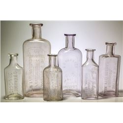 Carson City, Nevada Druggist Bottle Collection: Thaxter, Chedig, Steinmetz, Willis, and Johnson