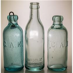 Three Humboldt Bottling Works Bottles (Winnemucca, Nevada)