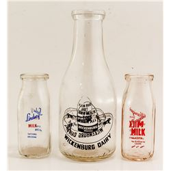Three Arizona Milk Bottles