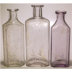Three Anaconda Drug Store Bottles (Anaconda, Montana)