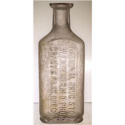 National Drug Store Bottle, Grants Pass, OR