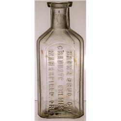 Brown Drug Store Bottle, Marshfield, OR