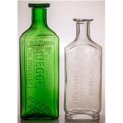 Two Oregon Drug Store Bottles
