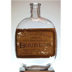 Montesano Washington Flask - CAPTAIN GRAY'S CHOICE BOURBON