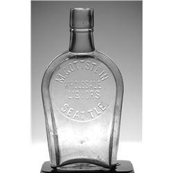 Seattle Flask: M. GOTTSTEIN WHOLESALE LIQUORS
