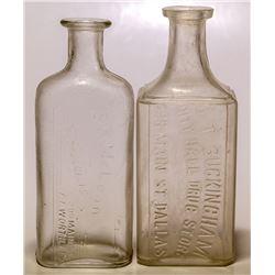Two Texas Drug Bottles