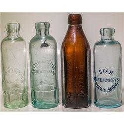 Three Hutch Sodas and an Amber Soda, Wis. & Minn.