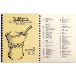 California Drug Store & Pharmacists Bottle Book