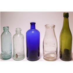 Five Misc. Colorful Bottles