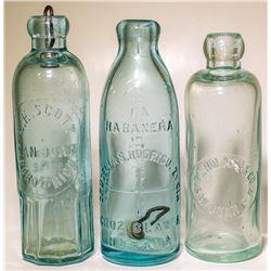 Foreign Hutch Soda Bottles