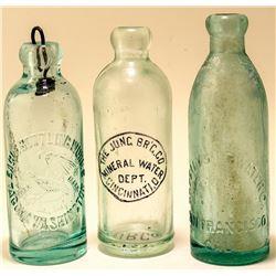 Three Different Western Soda Bottles