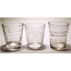 Three Whiskey Shot Glasses