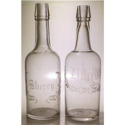 Pair of Back Bar Bottles