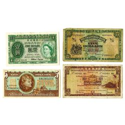 Government of Hong Kong, HSBC & Others, 1959-1964, Quartet of Issued Notes