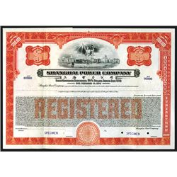 Shanghai Power Co. Specimen Registered Bond.